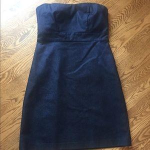 Merona Strapless Dark Denim Dress